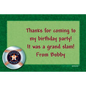 Houston Astros Custom Thank You Note