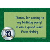 San Diego Padres Custom Thank You Note