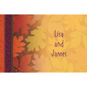 Fall Forward Custom Thank You Note