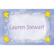 Sweet Stars & Swirls Custom Baby Shower Thank You Note