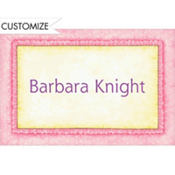 Pink Baby Frills Custom Baby Shower Thank You Note