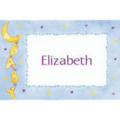 Baby Moon & Stars Custom Baby Shower Thank You Note