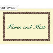 Black Basketweave/Ecru Custom Thank You Note