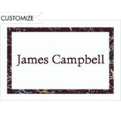 Black Marble Border/White Custom Thank You Note