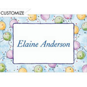 Pastel Balloons Custom Thank You Note