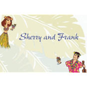 Luau Couple Custom Thank You Note
