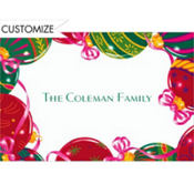 Christmas Ornaments Custom Thank You Note