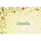 Chalice with Spring Flowers Custom Thank You Note