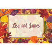Fallen Autumn Leaves Custom Thank You Note