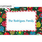 Colorful Tossed Ornaments Custom Thank You Note