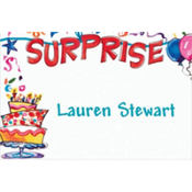 Surprise String Banner Custom Thank You Note