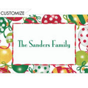Pretty Ornament Pattern Custom Thank You Note