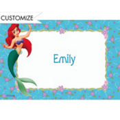 Ariel on Purple & Aqua Floral Custom Thank You Note