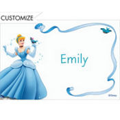 Cinderella with Birds & Ribbon Custom Thank You Note