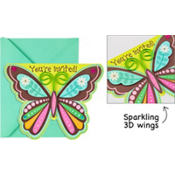 Boho Butterfly Large Invitations 8ct