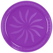 Plastic Purple Swirl Platter 16in