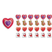 3D Valentines Day Erasers 24ct<span class=messagesale><br><b>25¢ per piece!</b></br></span>