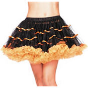 Adult Black and Orange Tulle Petticoat