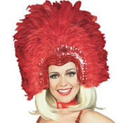 Red Feathered Headpiece