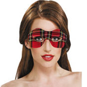 Grunge Plaid Eye Mask
