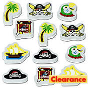 Pirate Party Erasers 12ct