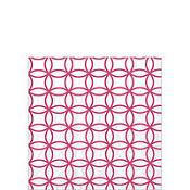 Raspberry Circles White Beverage Napkins 20ct