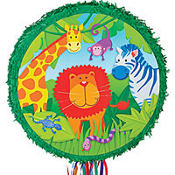 Pull String Jungle Animals Pinata