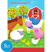Barnyard Fun Favor Bags 8ct