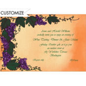 Grapevine Custom Invitation