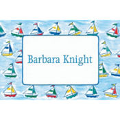 Sailing Sailboats Custom Baby Shower Thank You Note