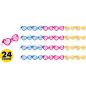 Hello Kitty Glitter Heart Glasses 24ct