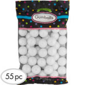 Pearl White Gumballs 56pc