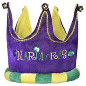 Plush Mardi Gras Crown