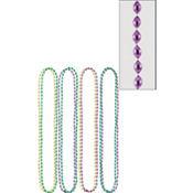 Mardi Gras Bead Necklaces 30in 8ct