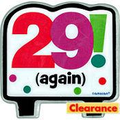29 Again 30th Birthday Candle