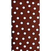 Brown Polka Dots Hand Towels 16ct