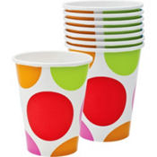 Cabana Polka Dot Cups 8ct