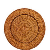 Round Bamboo Charger 12in
