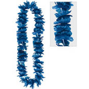 Blue Hawaiian Lei 40in