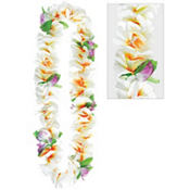 White Soft Petal Lei 40in