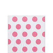 Soft Pink Big Dots Beverage Napkins 20ct