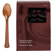 Chocolate Brown Premium Plastic Spoons 100ct