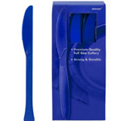 Royal Blue Premium Plastic Knives 100ct