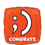 Foil Texting Congrats Graduation Balloon 18in