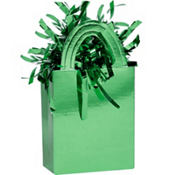 Green Mini Tote Balloon Weight 5.7oz
