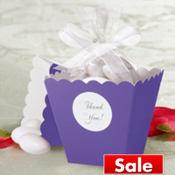 Lavender Popcorn Box Wedding Favor Kit 50ct