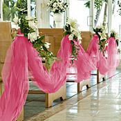 Bright Pink Tulle 65yd x 6in