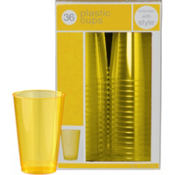 Sunshine Yellow Premium Plastic Tumblers 36ct