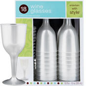 Pearl Premium Plastic Wine Glasses 18ct