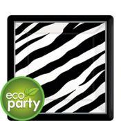 Zebra Print Square Dessert Plates 18ct